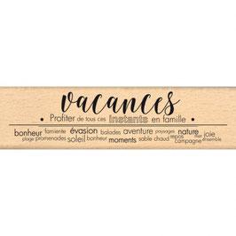 Tampon bois VACANCES BONHEUR_FD