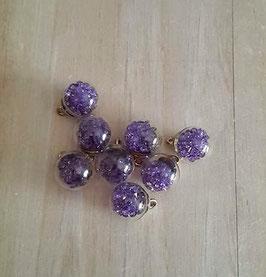 Mini globe verre & strass_violet