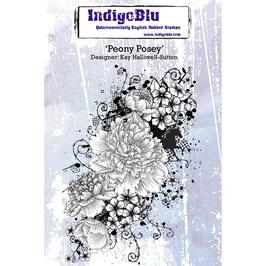 Rubber Stamp Indigo Blue A6_ Peony Posey