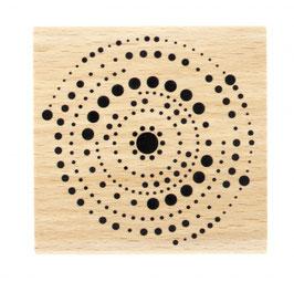 Tampon bois Cercles en Points_FD