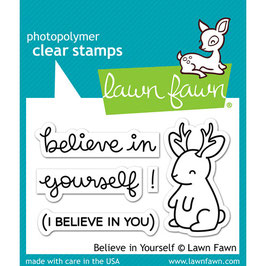 TAMPONS TRANSPARENTS 'LAWN FAWN ' Believe in Yourself