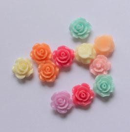 Rose résine 8mm