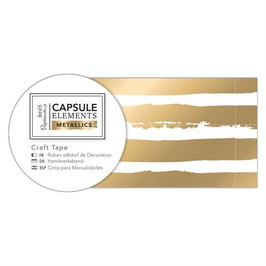 "Masking tape ""gold stripes"" 30mm*3m"