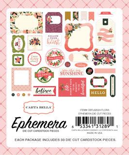 """Carta Bella Flora _33Die-cuts """"Ephemeras"""""""