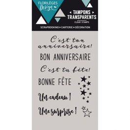 Tampons clears BON ANNIVERSAIRE  (FD)