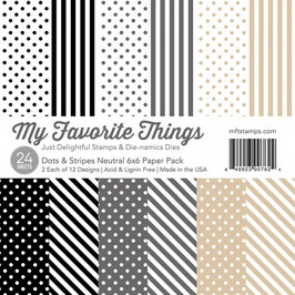 My Favorite Things Dots & Stripes Neutral Pad 15*15