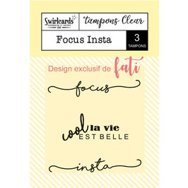 Tampons Clear - Focus Insta Swirlcards