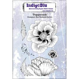 Rubber Stamp Indigo Blue Poppycock