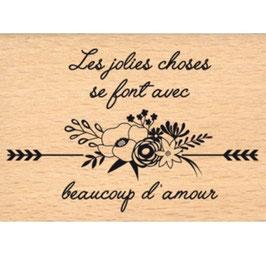 Tampon bois AVEC BEAUCOUP D'AMOUR_FD
