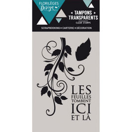 Tampon Clear Les feuilles tombent