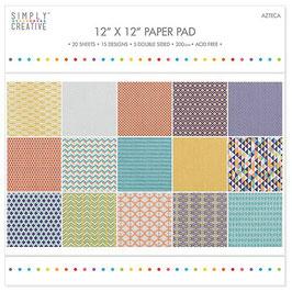 """Pack Papiers 30*30 Simply Creative """"Aztèque"""""""