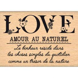 Tampon bois LOVE AU NATUREL_FD