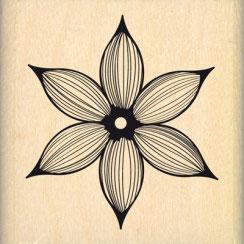 Tampon bois Jolie fleur lignée (FD)