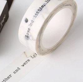"""Masking tape """"phrases"""""""