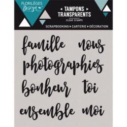 Tampons Clear - Petits mots1- Florilèges Design