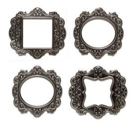 4 cadres métal Antique Silver