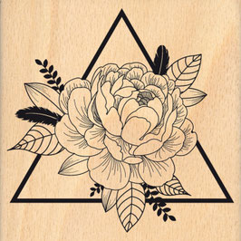 Tampon bois TRIANGLE FLORAL_FD