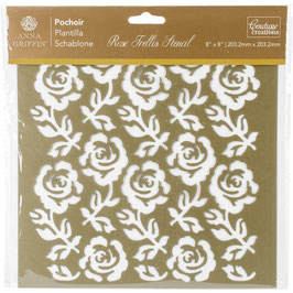 "Couture Creations Pochoir 20*20""-Rose Trellis"