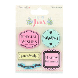 """Tampons Clear """"Couture Du Jour""""_Dovecraft"""