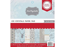 "Pad 15*15 Craft Smith "" Ice Crystals"""