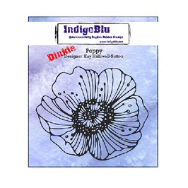 Rubber Stamp Indigo Blue A7_Poppy
