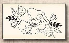 Tampon Bois - Bouquet Swirlcards