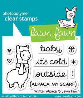 TAMPONS TRANSPARENTS 'LAWN FAWN ' Winter Alpaca