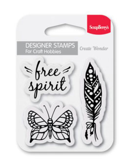 clear stamps (7*7cm) - Free Spirit