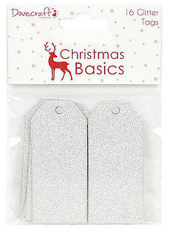 Tags Glitter Argent