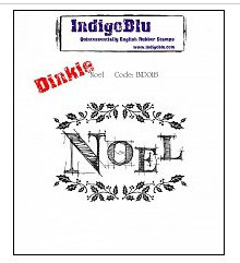 Rubber Stamp Indigo Blue A7_ Noel