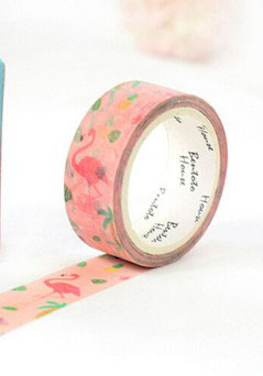 Masking tape Flamant rose