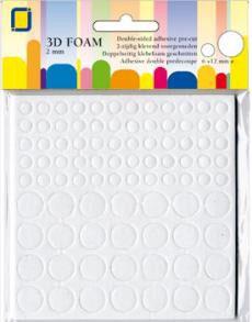Mousse 3D ronde Ø 6 mm & Ø 12 mm x 2 mm