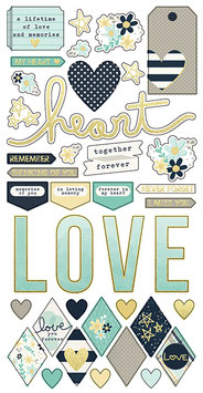 Stickers HEART Simple Stories