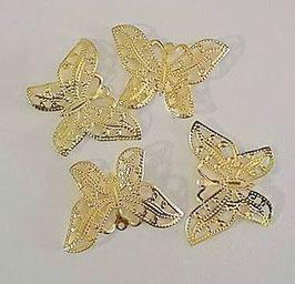 Papillon métal 3D OR (à l'unité)