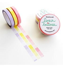 Masking tape Lora Bailora slim Pastel (lot de3)
