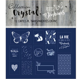 Set de cartes Project Life 'Swirlcards - Crystal' Blanc