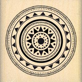 Tampon bois Pastille tribale - Florileges design