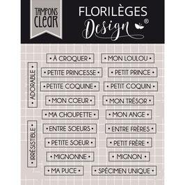 Tampons Clear - Mots à croquer - Florilèges Design