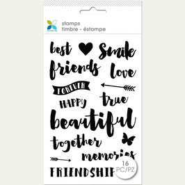 """Momenta Clear Stamps 4""""X7.5"""" Best Friends"""