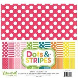 Echo Park Dots & Stripes Spring _Kit 30*30