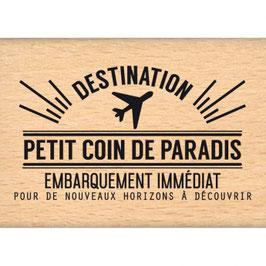 Tampon Bois Coin de Paradis  (FD)