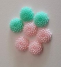 Resine Peony pastel 15mm