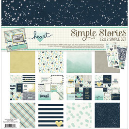 Simple Stories Paper Pack_Heart 30*30