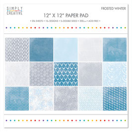 Pack Papiers 30*30 Simply Creative Frosted Winter