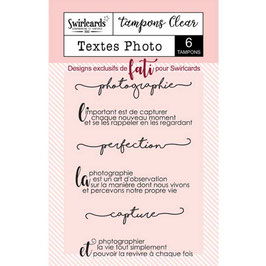 Tampons Clear - Textes photo - Swirlcards