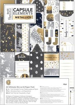 PAck A4 Ultimate Die-Cut & Paper Pack (48pk) - Elements Metallics