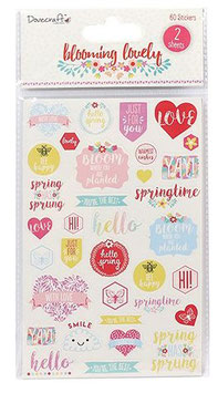 Dovecraft Blooming Lovely Sentiment Stickers