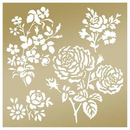 """Pochoirs 20*20 """"Secret Garden""""_ Anna Griffin"""
