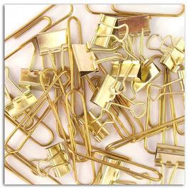 Set 15 maxi trombones + 15 pinces Or
