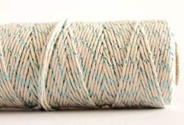 Baker ivoire & glitter turquoise